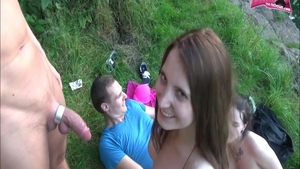 Foursome together with too cute teen