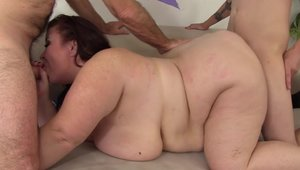 Busty pregnant amateur taboo threesome in HD