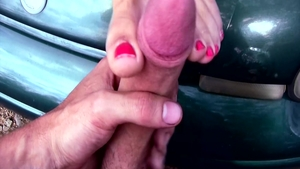 Sexy blonde haired craving foot licking