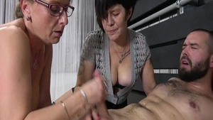 Plowing hard with young MILF