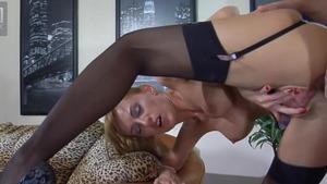 Masturbation in the company of busty russian mature