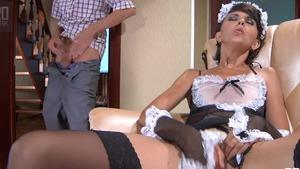 Very small tits russian maid orgasm HD