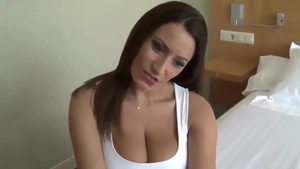 Sucking cock in company with big butt german brunette