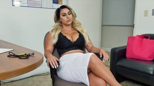 Big butt blonde babe anal fucking in office in HD
