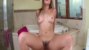 POV good fucking along with young Dani Daniels in the bath