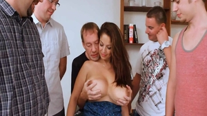 Submissive cumshot among large boobs MILF Raquel Raxxx
