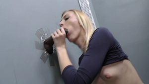 Petite pornstar Alexa Grace helps with gloryhole in HD