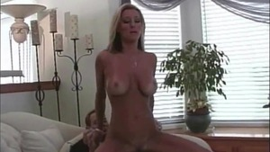 Tanned blonde haired nailed rough