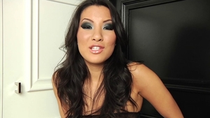 Asian Asa Akira ass fingering