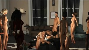 Asian MILF has a passion for gangbang HD