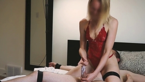 Trimmed pussy mistress teasing