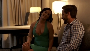 Loud sex together with big tits cougar