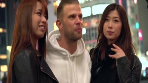 Asian threesome in the Tokyo