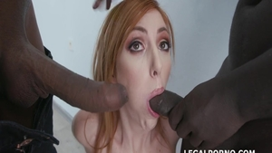 Raw cumshot amongst big boobs redhead Lauren Phillips