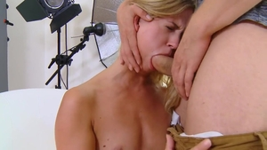 Young blonde haired Violette Pure rushes creampied