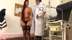 Fucking starring big tits mature in stockings in office in HD