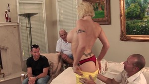 Gangbang in company with charming wife