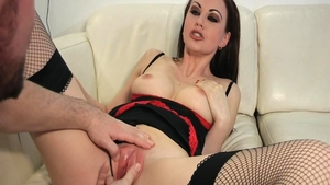 Brunette Tina Kay likes hard ramming in sexy lingerie