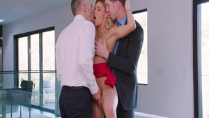 Hard pounding together with shaved blonde babe Jessa Rhodes