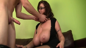Big tits Eva Notty dick sucking
