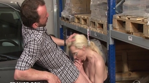 Rough ramming hard along with desperate french slut