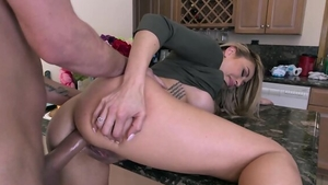 Loud sex in company with big ass stepmom