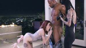 Rough sex with Lola Fae together with Prince Yahshua