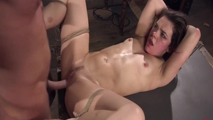 Hot babe Kimber Woods rough bondage fucked in the ass