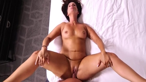 Very sexy cougar POV anal fucked in hotel