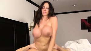 Sex in company with big tits stepmom