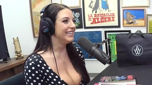 Angela White blowjobs after interview