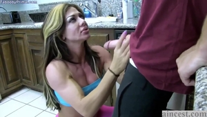 POV sex in the company of large tits mature Nina Dolci