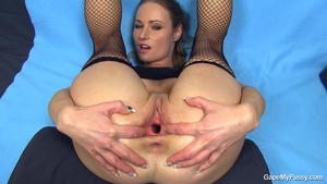 Stepmom gaping exotic woman in tight stockings solo