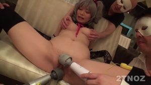 Hairy asian wishes for cosplay gangbang HD