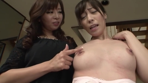 Pussy sex together with large tits asian maid