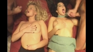 Hot blonde foursome