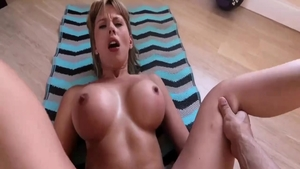 Hard pounding in company with busty babe Amber Chase