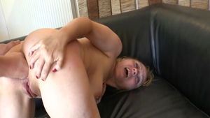 Ramming hard in company with passionate french chick