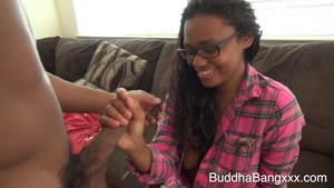 Ebony brunette Brown Sugar has a soft spot for nailing in HD