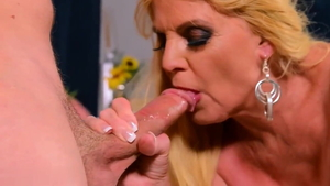 Sex scene accompanied by young blonde hair
