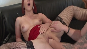 Classy babe art pussy eating double penetration in HD