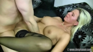 Slamming hard escorted by large tits blonde haired