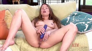 Solo hairy Taylor Sands brunette playing with toys