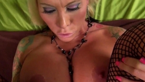 Real sex in company with tattooed pornstar
