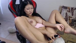 Orgasm along with large boobs asian amateur