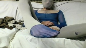 Masturbating accompanied by young in pantyhose