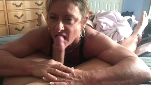 POV real sex in the company of muscle girl