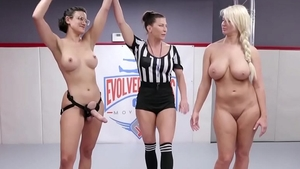 Very sexy big boobs barber Penney Play rough playing with toys