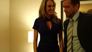 Real sex with Johnny Castle beside Brandi Love