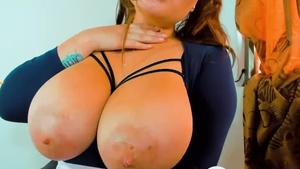 Hardcore sex escorted by large boobs whore
